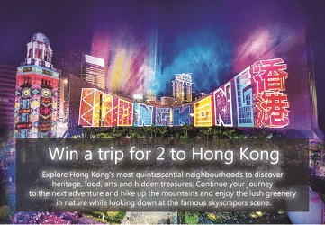 Hong Kong Contests for Canada Trip Giveaways