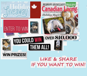 Canadian Living Magazine Contests,prizes & Giveaways