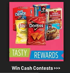 Tasty Rewards Giveaways at www.TasyRewards.ca