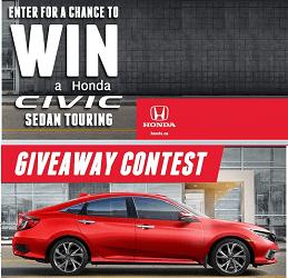 Honda Contest: Win 2019 Honda Civic (at Honda ca/Winacivic)