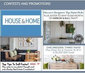 HouseandHome.com Contests