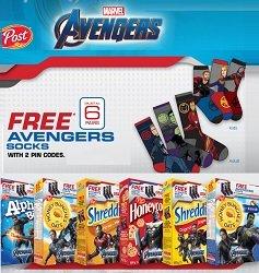 Post Foods Canada Marvel Avenger Socks Giveaway